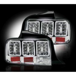 RECON-264187CL-05-09-Ford-Mustang-Clear-Tail-Lights-LED