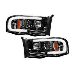 RECON-264191BKC-Dodge-Ram-02-05-1500--2500--3500�-Smoked-Black-Headlights-Projector