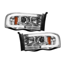 RECON-264191CLC-Dodge-Ram-02-05-1500--2500--3500�-Clear-Chrome-Headlights-Projector