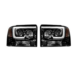 RECON-264193BKC-Ford-Superduty-05-07-F250-F350-F450-F550-Smoked-Black-Headlights-Projector