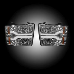 RECON-264195CLC-07-13-Chevrolet-Silverado-2nd-Gen-Single-Wheel-Clear-Chrome-Headlights-Projector