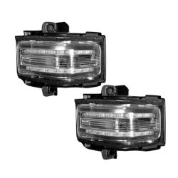 RECON-264245AMCL-Ford-17-18-F250-F350-F450-Clear-Lens---Amber-LED-Mirror-Light-LED-Kit