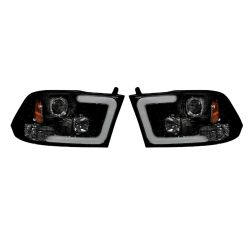 RECON-264270BKC-Dodge-Ram-09-14-1500--2500--3500-Smoked-Black-Headlights-Projector