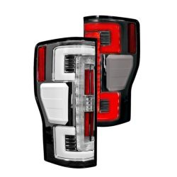 RECON-264299CL-Ford-Superduty-17-18-F250-F350-F450-F550-Clear-Tail-Lights-LED