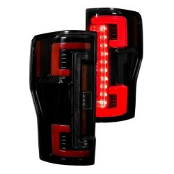 RECON-264299LEDRBK-Ford-Superduty-17-19-F250-F350-F450-F550-Red-Smoked-Tail-Lights-LED