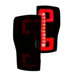 RECON-264299RBK-Ford-Superduty--Red-Smoked-Tail-Lights-LED