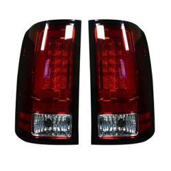 RECON-264389RD-GMC-Sierra-07-13-1500--2500--3500-Red-Lens-Tail-Lights-LED
