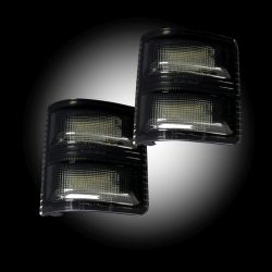 RECON-264140WHBKS-08-16-Ford-F250-F350-Superduty-Smoked-2-Piece-Mirror-Light-LED-Kit