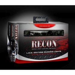 RECON-264151BK-Daytime-Running-Lights-2-Piece-set-Smoked-White-Running-Lights-LED