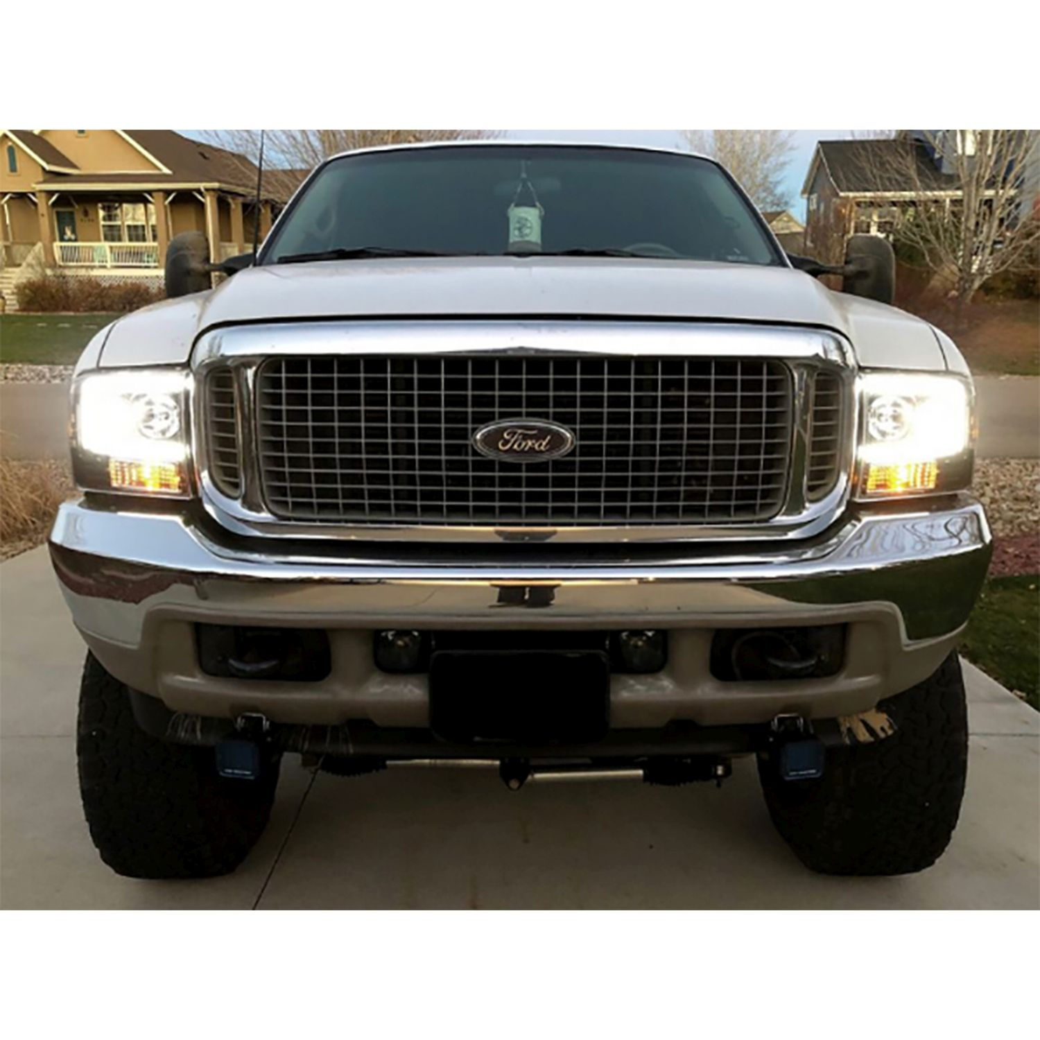 99 F350 Headlights >> Recon 264192bkc Ford Superduty 99 04 F250 F350 F450 F550 Smoked Black Headlights Projector