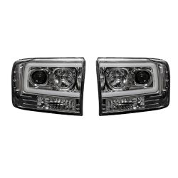 RECON-264192CLC-Ford-Superduty-99-04-F250-F350-F450-F550-Clear-Chrome-Headlights-Projector