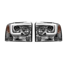 RECON-264193CLC-Ford-Superduty-05-07-F250-F350-F450-F550-Clear-Chrome-Headlights-Projector