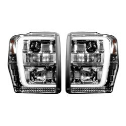RECON-264196CLC-Ford-Superduty-08-10-F250-F350-F450-F550-Clear-Chrome-Headlights-Projector