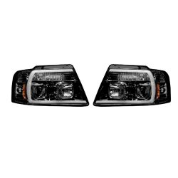 RECON-264198BKC-Ford-F150-04-08-Smoked-Black-Headlights-Projector