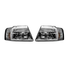 RECON-264198CLC-Ford-F150-04-08-Clear-Chrome-Headlights-Projector
