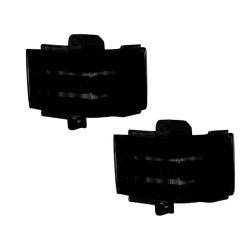 RECON-264245AMBK-Ford-17-18-F250-F350-F450-Smoked-Lens---Amber-LED-Mirror-Light-LED-Kit