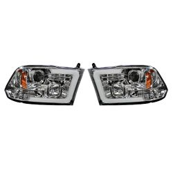 RECON-264270CLC-Dodge-Ram-09-14-1500--2500--3500-Clear-Chrome-Headlights-Projector