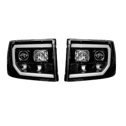 RECON-264271BKC-GMC-Sierra-and-Denali-07-13-Smoked-Black-Headlights-Projector