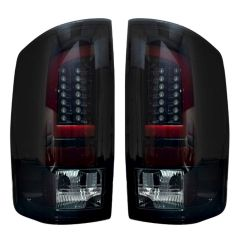 RECON-264371BK-Dodge-RAM-02-06-1500--2500--3500-Smoked-Lens-Tail-Lights-LED