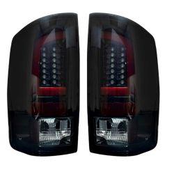 RECON-264371BK-Dodge-RAM-02-06-1500--2500--3500-Smoked-Lens-Tail-Lights-LED