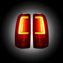 RECON-264373BK-Chevy-Silverado-GMC-Sierra-99-07-Smoked-Tail-Lights-LED