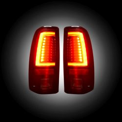 RECON-264373RBK-Chevy-Silverado-GMC-Sierra-99-07-Red-Smoked-Tail-Lights-LED