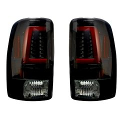 RECON-264377BK-Chevy-and-GMC-Tahoe--Yukon--Suburban--Denali-00-06-Smoked-Lens-Tail-Lights-LED