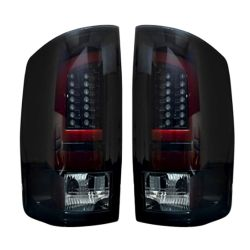 RECON-264379BK-Dodge-RAM-07-09-1500--2500--3500-Smoked-Lens-Tail-Lights-LED