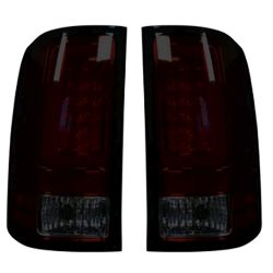 RECON-264389RBK-GMC-Sierra-07-13-1500--2500--3500-Red-Smoked-Lens-Tail-Lights-LED