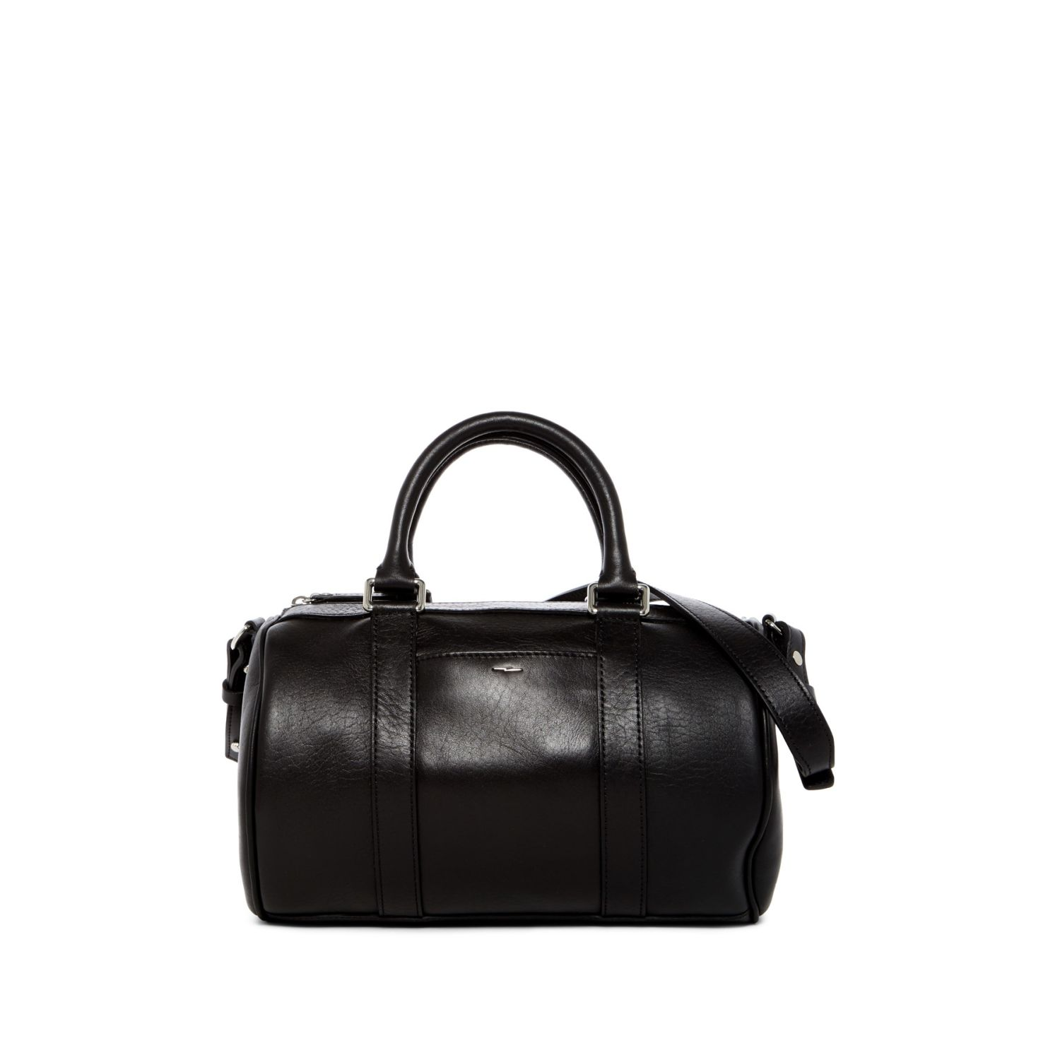 Shinola S0320004527 Black7 Black Small Leather Duffle Bag