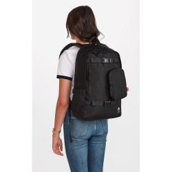 Nixon-Unisex-C2955-1148-00-Smith-Backpack-All-Black-Nylon-Backpack