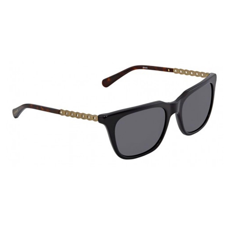 b1021eda6366 Coach HC8236-56-500287 Square Sunglasses Black Frame Grey Lens