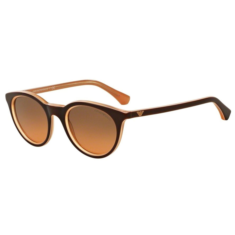 75c8a2f61bc0 Emporio Armani EA4061F-49BROWN-548018 Round Sunglasses ...