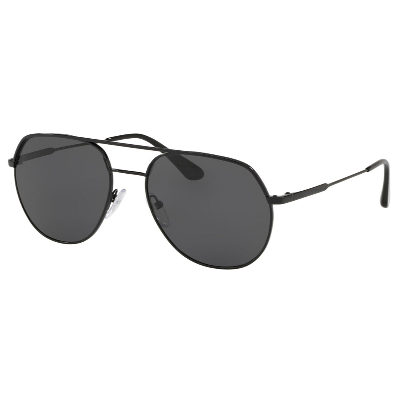 a686f83363aa Prada PR55US-54-1AB5S0 Metal Plaque Sunglasses Black Frame ...