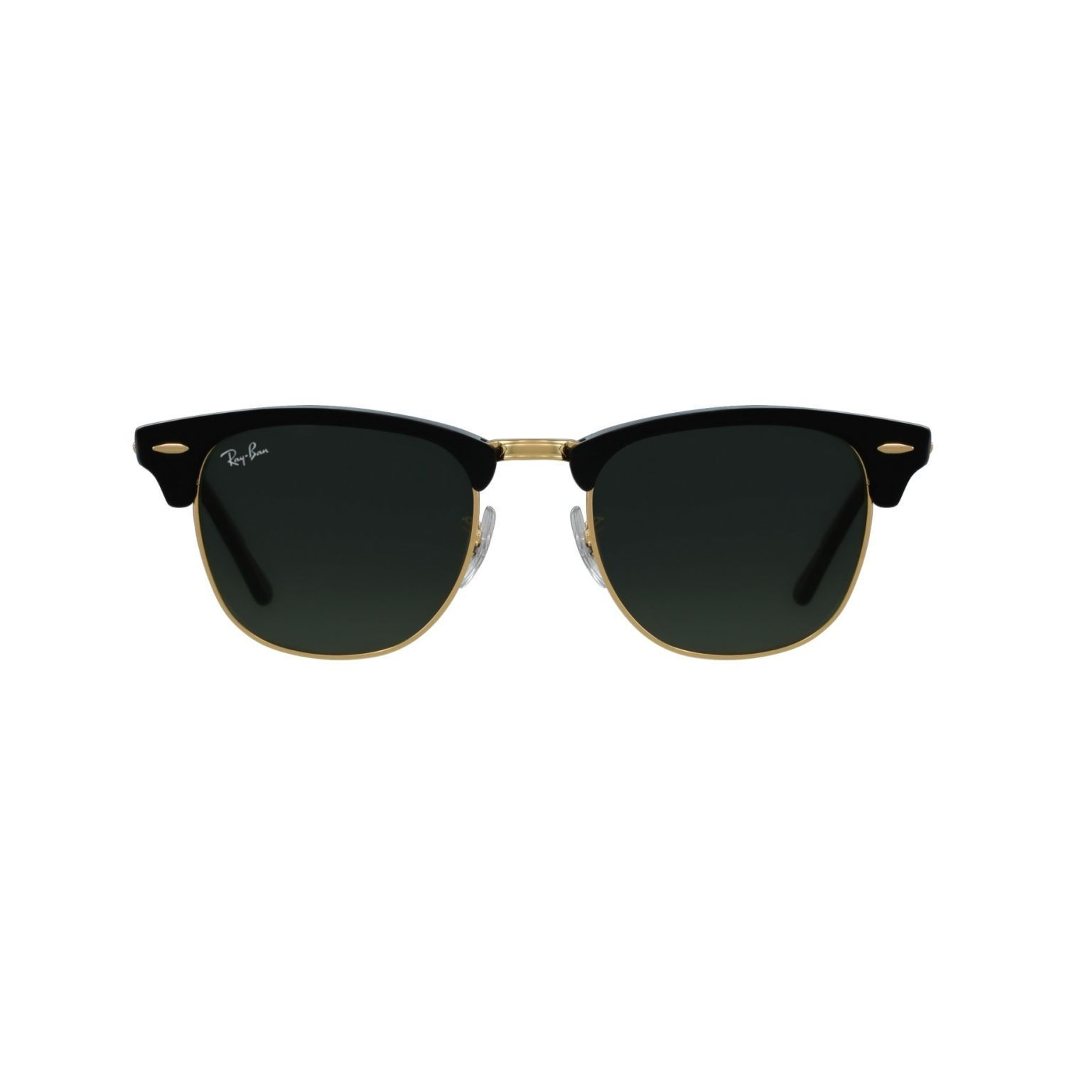 4813273e2a Ray-Ban RB3016-W0365 Clubmaster Sunglasses Black Frame Green ...