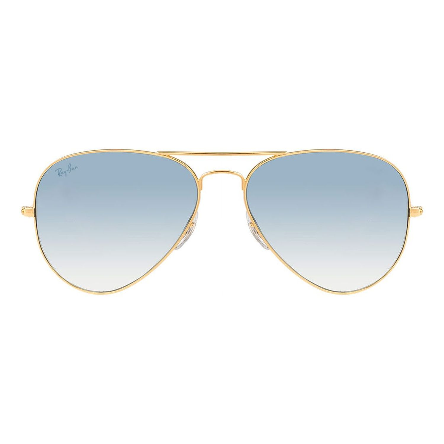 a502dd4b9f33 Ray-Ban RB3025-001-3F Aviator Sunglasses Gold Frame Light Blue ...
