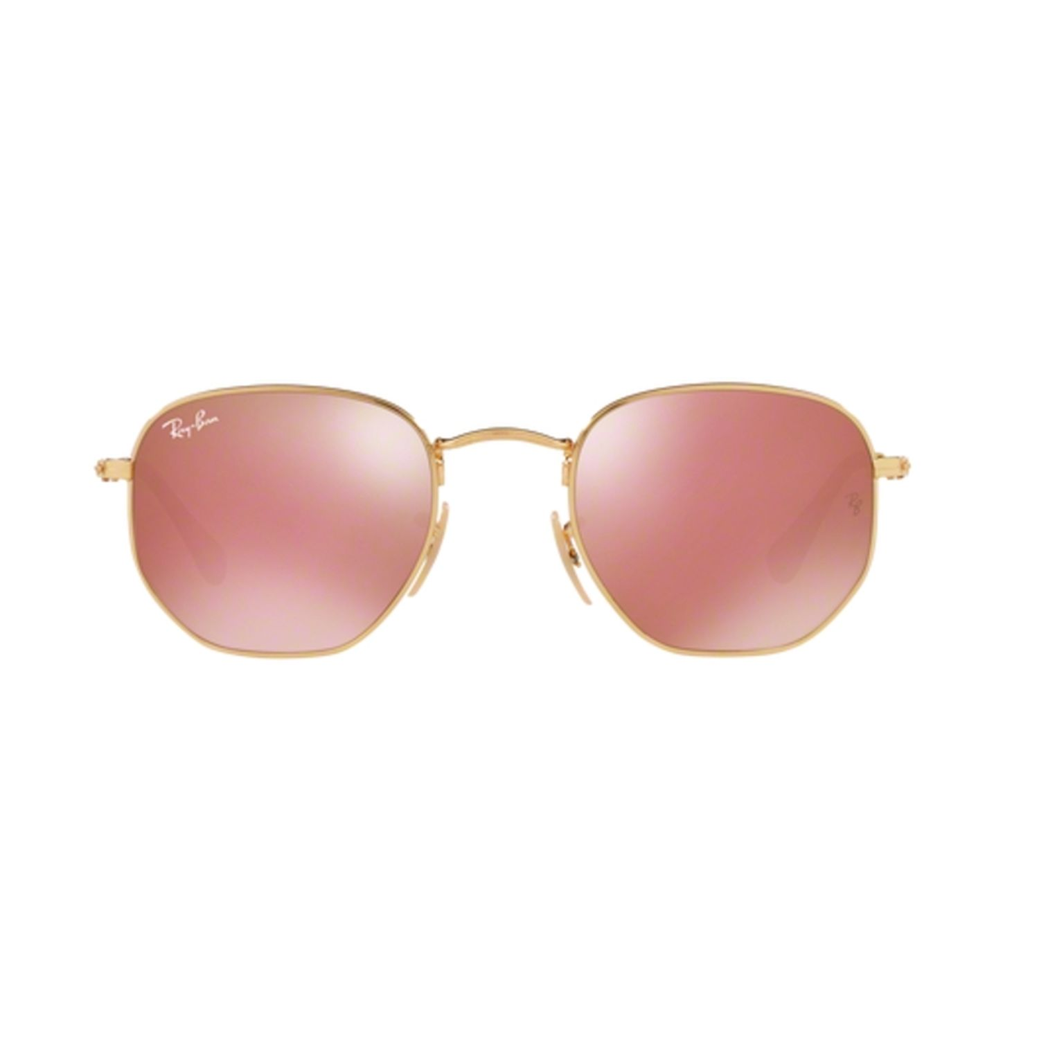e2a747ee53a Ray-Ban RB3548N-001-Z2 Hexagonal Sunglasses Gold Frame ...