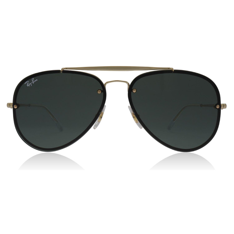 Ray Ban RB3584N 9050 71 Blaze Sunglasses Gold Frame Green Lens