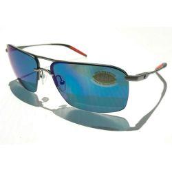 COSTA-DEL-MAR-SKM-228-OBMP-Skimmer-Sunglasses-Silver-Tone-Frame-Blue-Lens