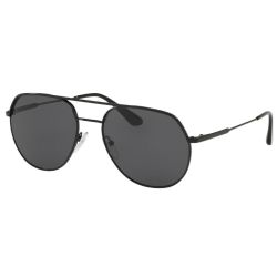 Prada-PR55US-54-1AB5S0-Metal-Plaque-Sunglasses-Black-Frame-Grey-Lens