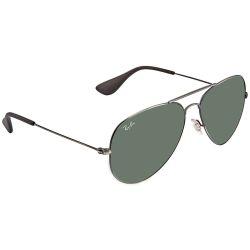 RAY-BAN-RB3558-913971-Aviator-Sunglasses-Green-Frame-Green-Lens