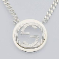 Gucci-YBB246492001-GG-Groove-Silver-Necklace-Jewelry
