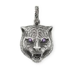 Gucci-YBG523418001-Feline-Silver-16mm-Charm-Jewelry
