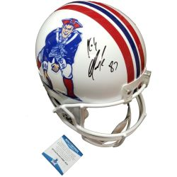 Rob-Gronkowski-Signed-Football-Memorabilia-Riddell-Replica-Throwback-Patriots-Helmet-Beckett-Certificate