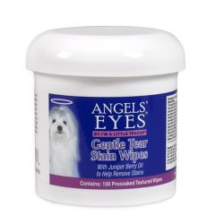 Angels-Eyes-AEGTSW100-Dogs-Gentle-Tear-Stain-Wipes-Supplement-100ct