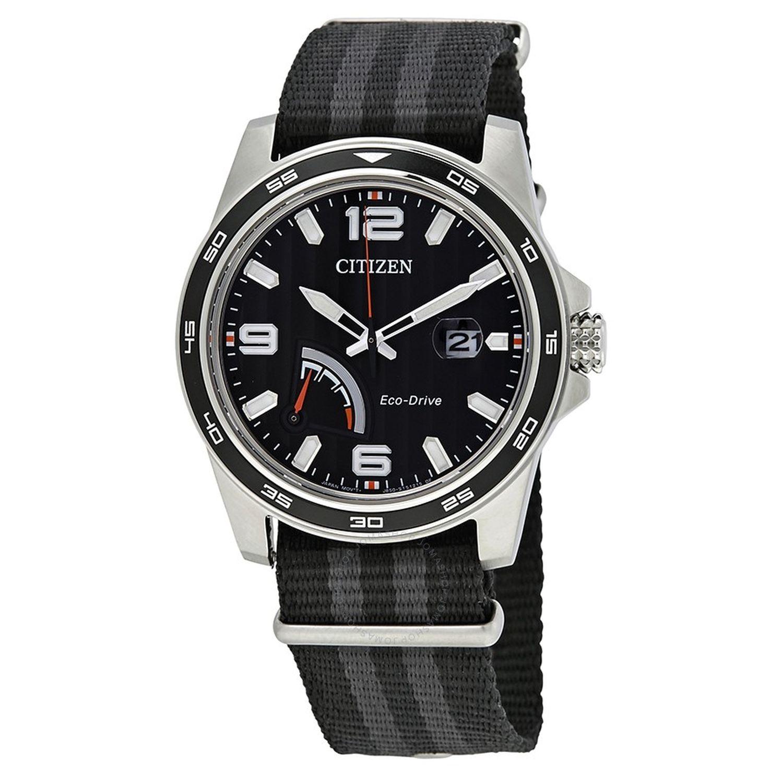 Citizen AW7030-06E Mens PRT Series Black Eco Drive Watch