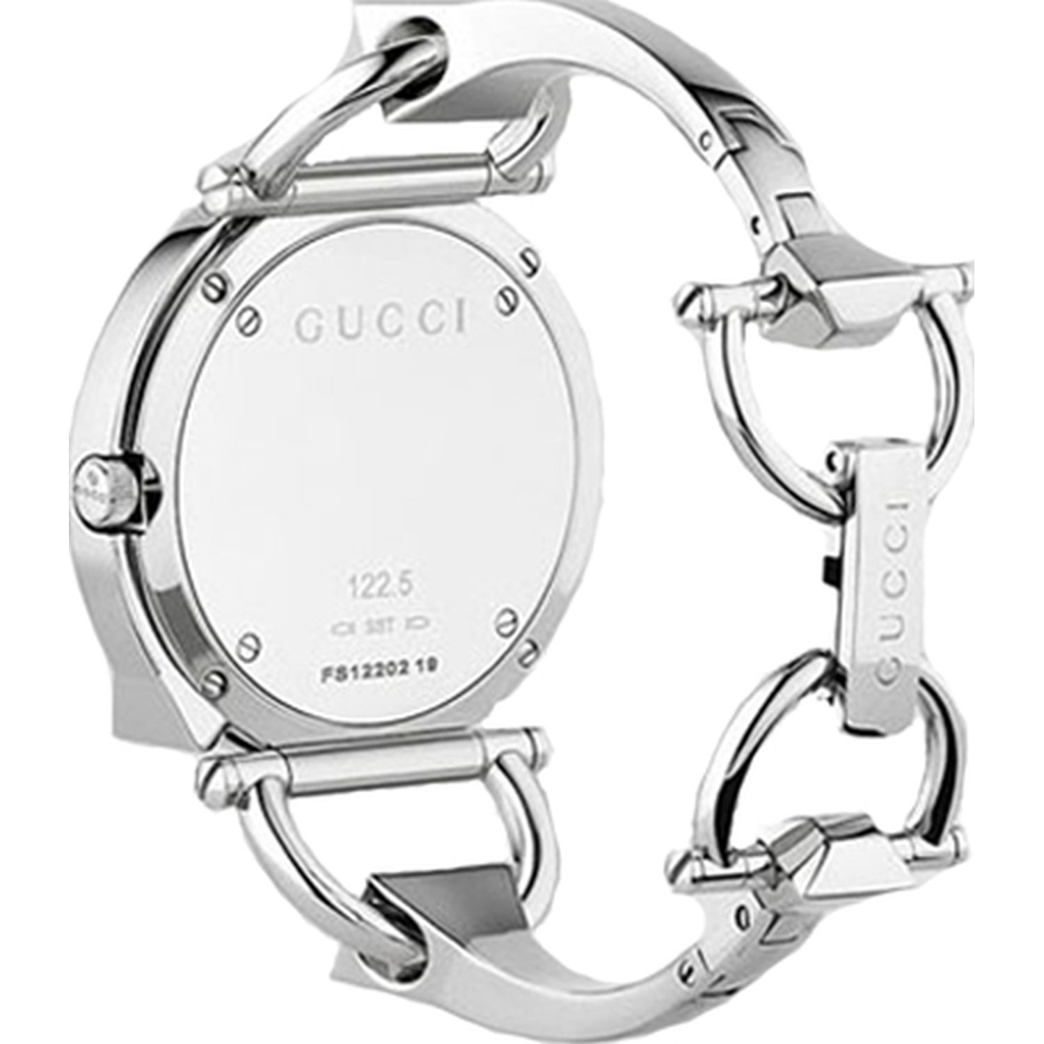9144d33cb5f Gucci YA122504 Womens Chiodo Silver Quartz Watch