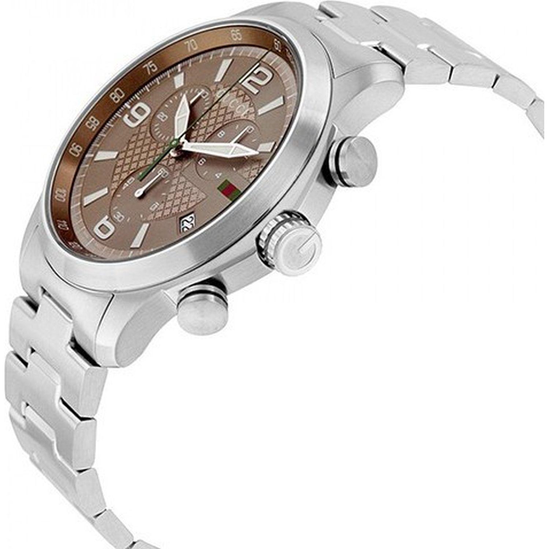 8d2052ed888 Gucci YA126248 Mens G Timeless Brown Quartz Watch