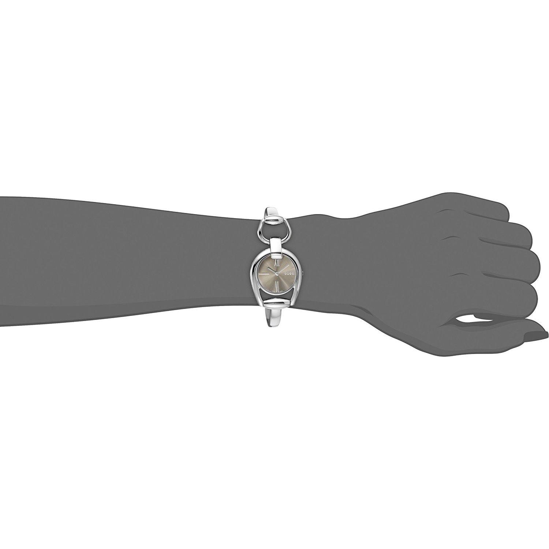 d29c1a92f16 Gucci YA139501 Womens Horsebit Brown Quartz Watch