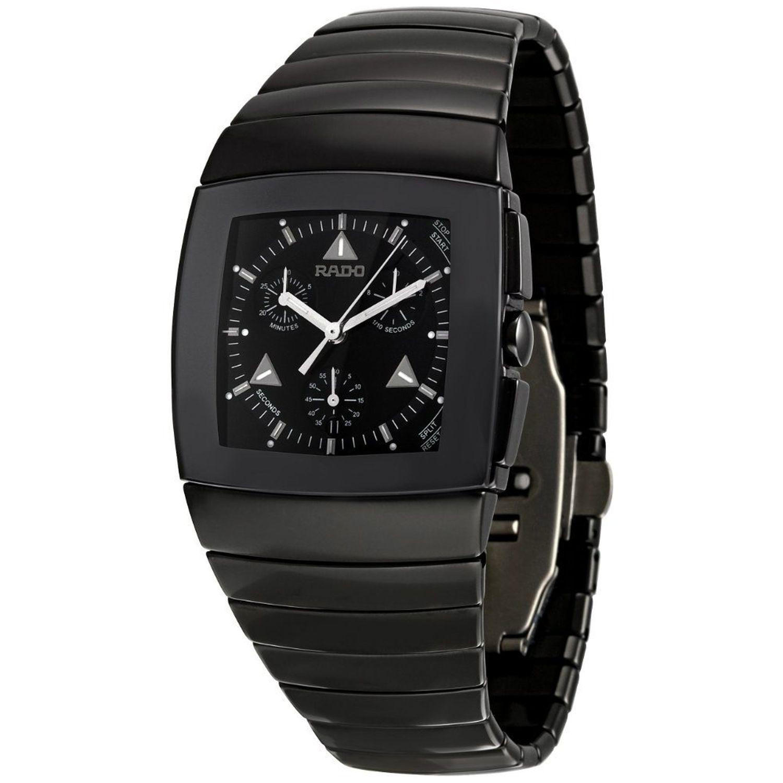 Rado r13764152 mens sintra black quartz watch for Celebrity quartz watch